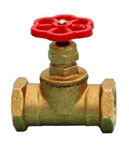 Вентиль для пожарного крана 51 мм. латунь, прямой, 15Б3Р, муфтов