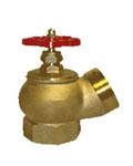 КПЛ-65-1 Кран пожарный (вентиль) 65 мм. латунь, угловой, 125 гр.