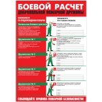 """PL-008 Плакат """"Боевой расчет ДПД"""" А3"""