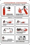 """PL-009  Плакат """"Использование огнетушителя"""" А4, см. пл."""