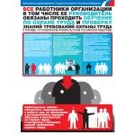 """PL-104 Плакат """"Обучение по охране труда и проверка знаний требов"""